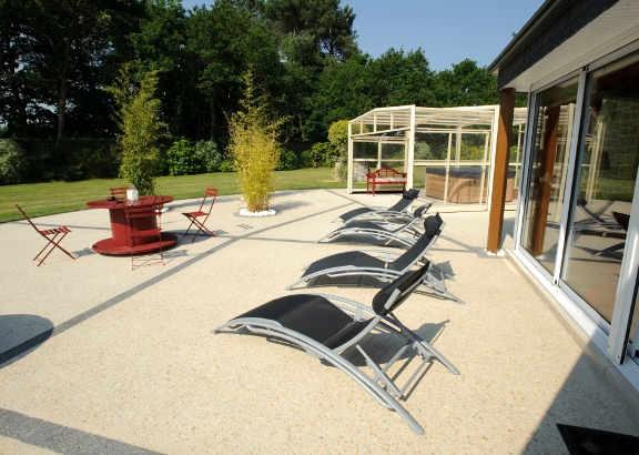 comment faire une terrasse en b ton quels sont les prix beton expert. Black Bedroom Furniture Sets. Home Design Ideas