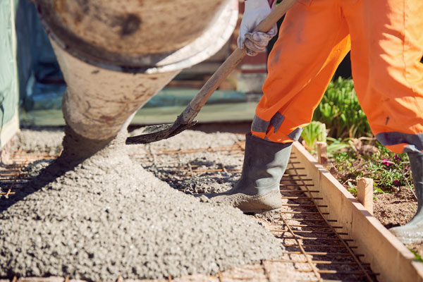 coulage beton pour une dalle de 100m2