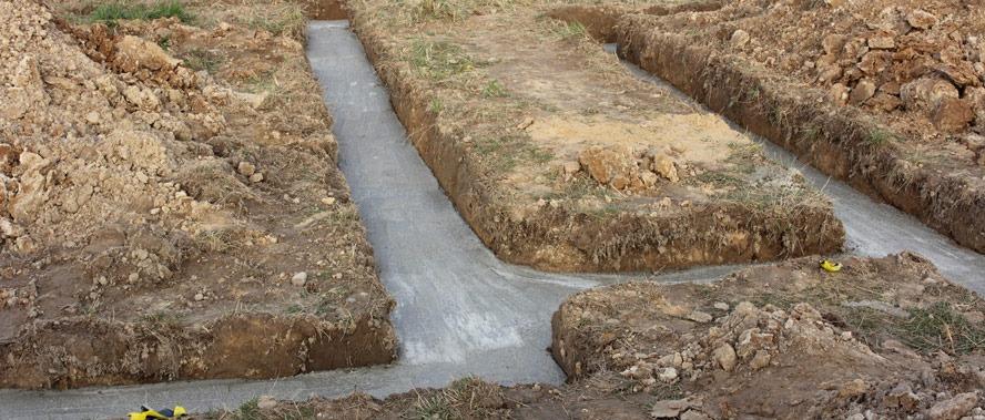 fondation béton de propreté