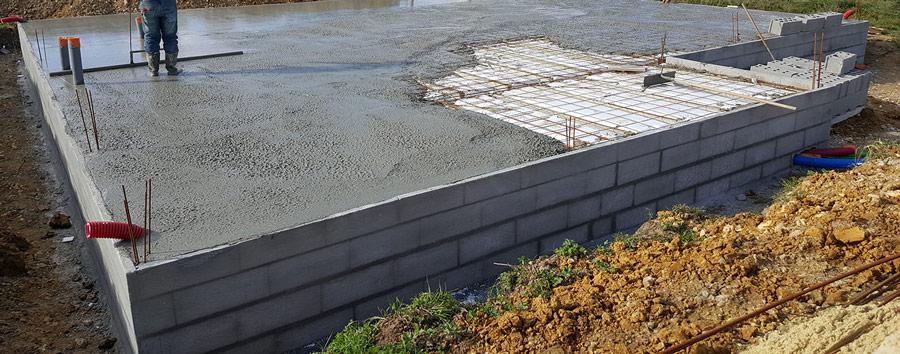 coulage beton sur une dalle de compression