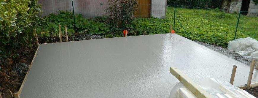 dalle beton pour abri jardin