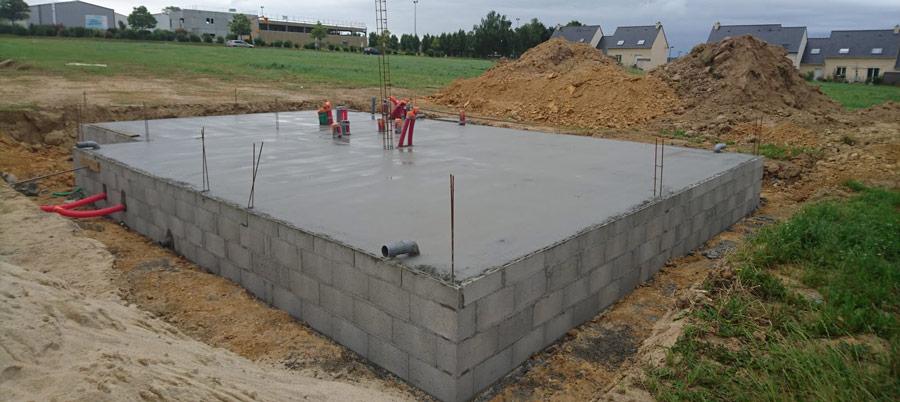 coulage beton pour un radier