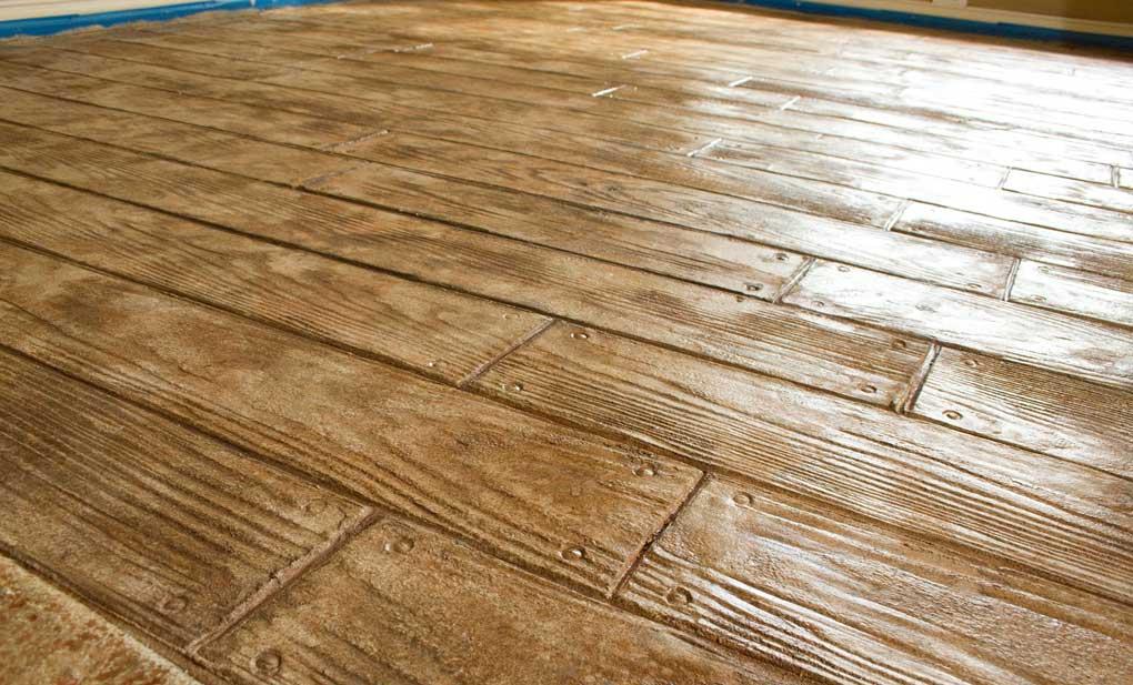 dalle beton imitant bois
