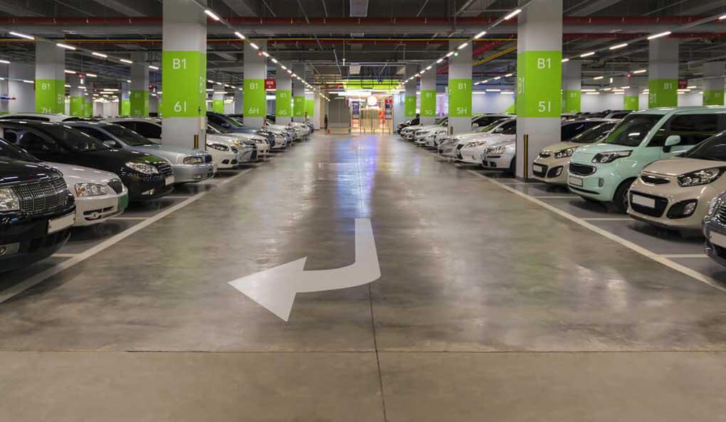 revêtement de sol pour un parking interieur