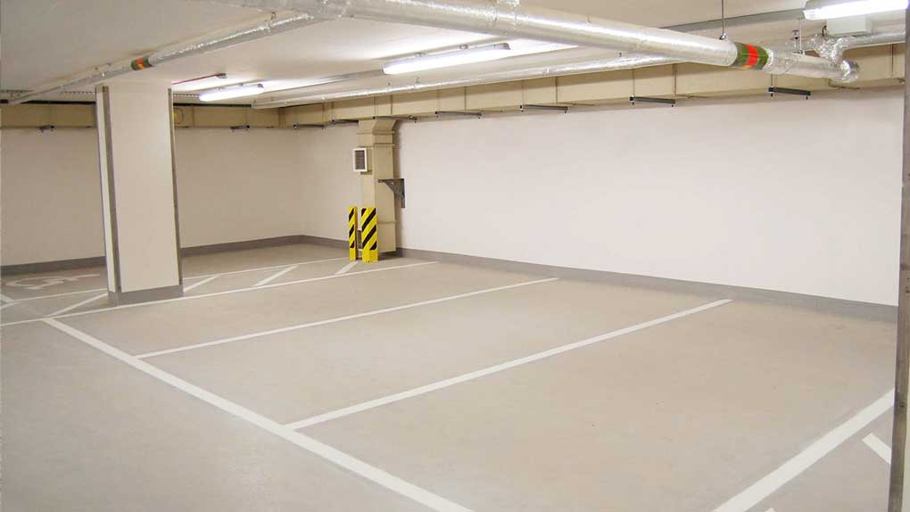 sol parking béton