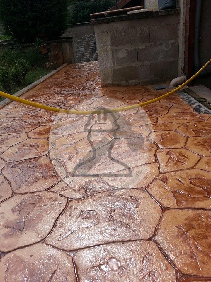 beton imprime sol pierre iregulierre